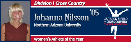 Johanna Nilsson, Women's Cross Country Athlete of the Year