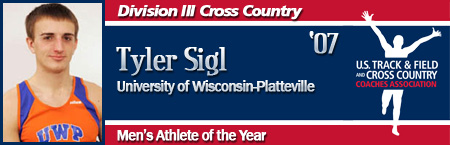 Tyler Sigl, Men's Cross Country Athlete of the Year