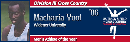 Macharia Yuot, Men's Cross Country Athlete of the Year