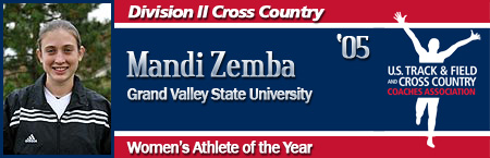 Mandi Zemba, Women's Cross Country Athlete of the Year