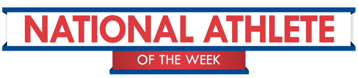 National Athlete of the Week Banner