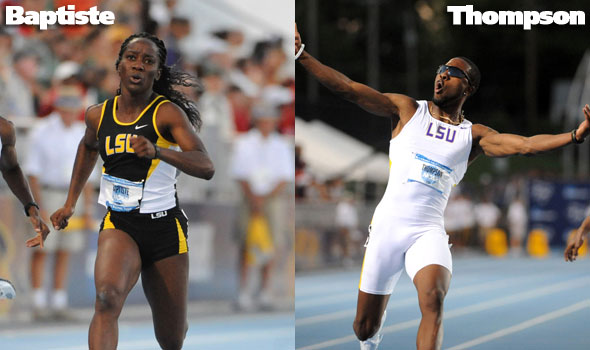 LSU Olympians Thompson, Baptiste Honored by Home Country
