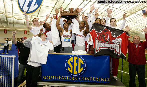 Arkansas Men Win SEC Indoor Title