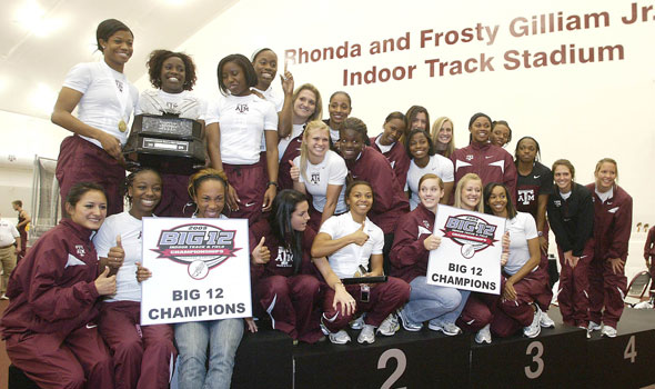 No. 1 A&M Women Win Third Straight Big 12 Title