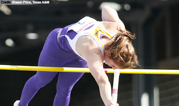 LSU's Rachel Laurent Wins Pole Vault Title with Penn Relays Record