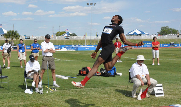 Nafee Harris Wins IUP's First Long Jump National Title