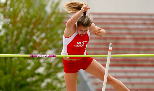 North Central's Rachel Secrest Sets National Record in Pole Vault