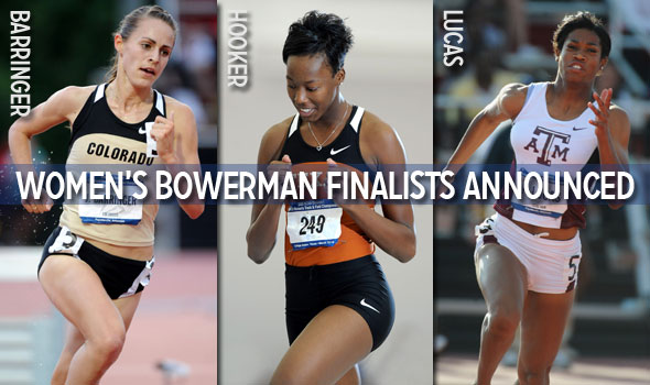 Barringer, Hooker, and Lucas Named Women's Bowerman Finalists