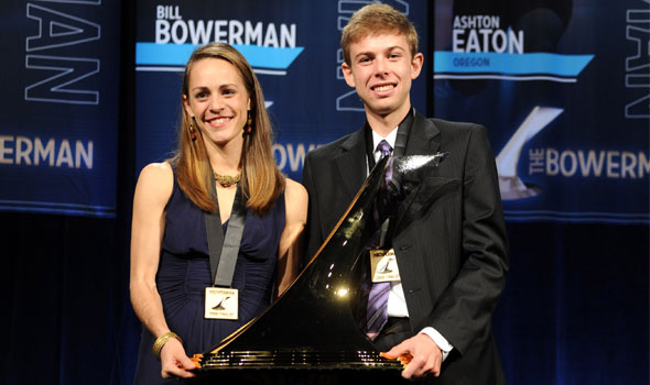 Rupp, Barringer Honored as Inaugural Winners of The Bowerman