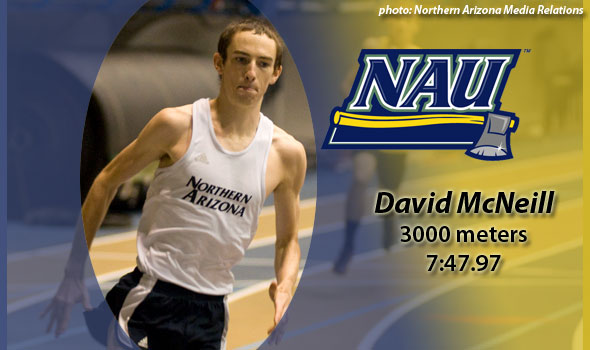 Northern Arizona's David McNeill Wins Heavy-Duty 3k Qualifier at Washington