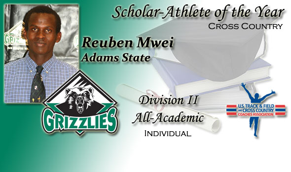 Reuben Mwei of Adams State Named as Scholar-Athlete of the Year in Division II Cross Country