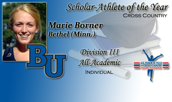 Cross Country Scholar-Athlete of the Year in Division III Awarded to Bethel's Marie Borner