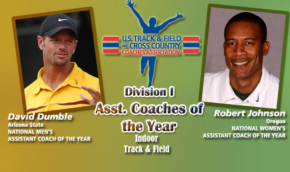 Dumble, Johnson Named National Assistant Coaches of the Year in DI