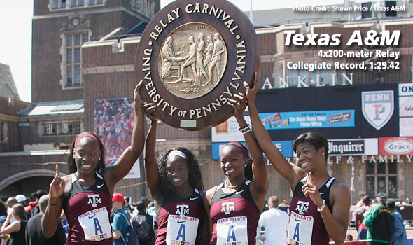 Texas A&M Sets New Collegiate Record in 4×200