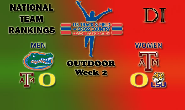 National Team Rankings Show No Change in Top Five in Division I