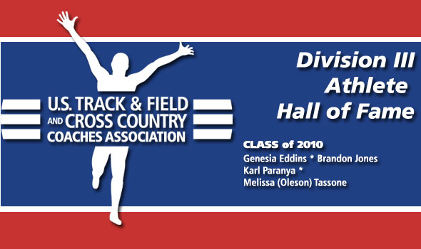 Eddins, Jones, Paranya, and Tassone To Be Inducted into Division III Athlete Hall of Fame