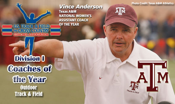 Texas A&M's Anderson is National Women's Assistant Coach of the Year For Third-Consecutive Time