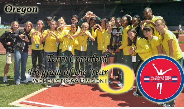 Duck Women Edge Gators for Second-Straight Terry Crawford Program of the Year Nod