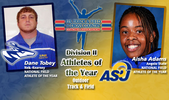Multi-Talented Aisha Adams, Tobey Are Division II Field Athletes of the Year