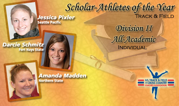 Pixler, Schmitz, Madden Gain Scholar Athlete of the Year Distinction in Division II