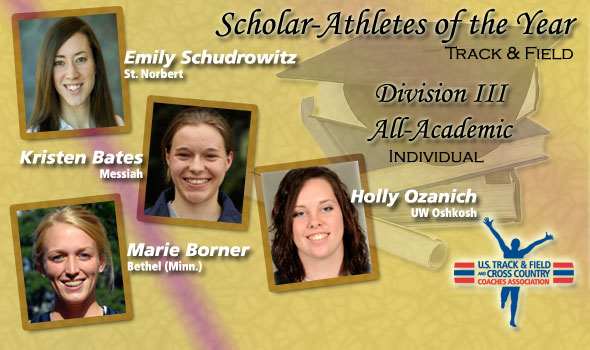 Schudrowitz, Bates, Borner, Ozanich Post High Marks for Scholar Athlete of the Year Mentions in Division III