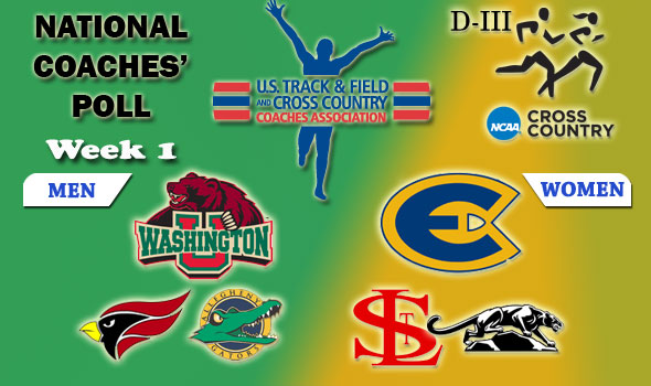 Division III National Cross Country Coaches' Poll: September 15