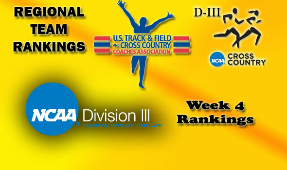 D-III Regional Cross Country Rankings: Week 4, October 5