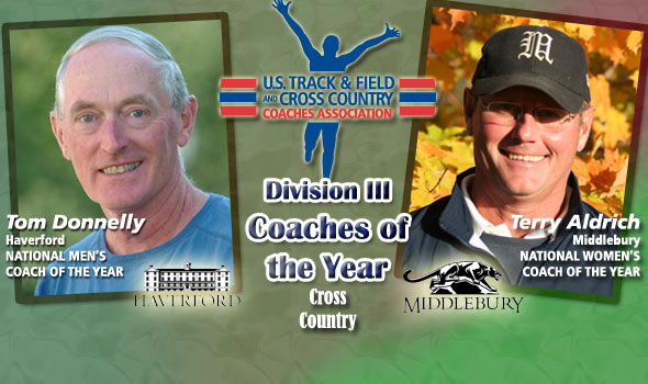 Donnelly, Aldrich Named National Coaches of the Year in Division III