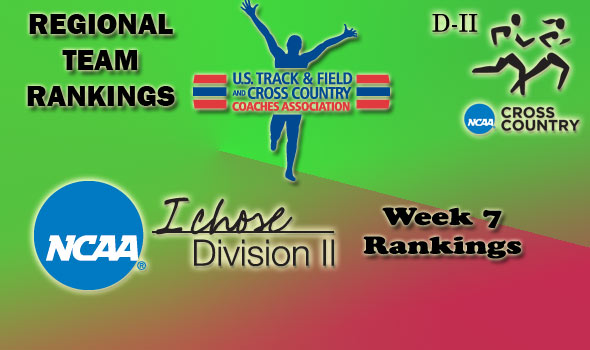 D-II Regional Cross Country Rankings: Week 7, November 2