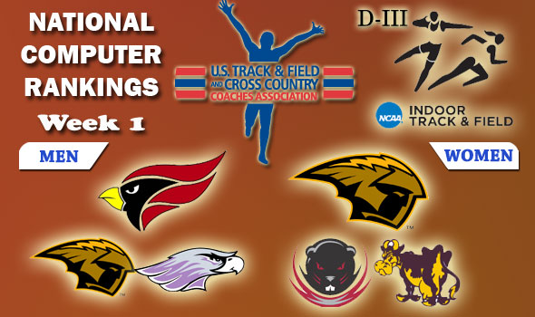 D-III Indoor T&F Rankings: Week 1, January 26