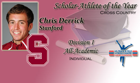 Chris Derrick of Stanford Named Men's Scholar Athlete of the Year for 2010 Division I Cross Country Season