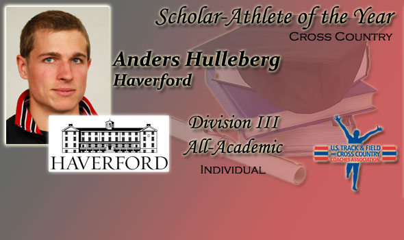 Anders Hulleberg of Haverford Named Cross Country Scholar Athlete of the Year in Division III