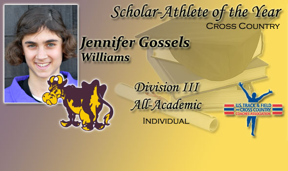 Jennifer Gossels of Williams College Earns Women's Scholar Athlete of the Year Nod in Division III