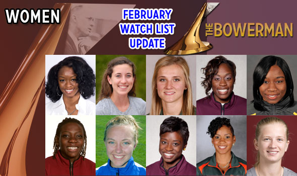 Brookins, Spence, Sutej Join The Bowerman Watch List for Women