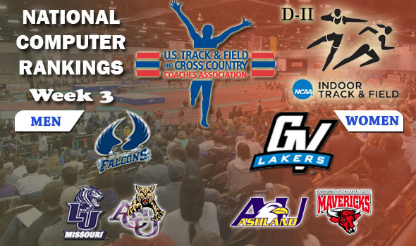 NCAA Division II Indoor T&F Computer Rankings: Week 3, February 8