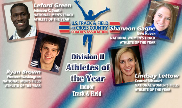 Green, Brown, Gagne, Lettow Are Division II's Indoor Athletes of the Year