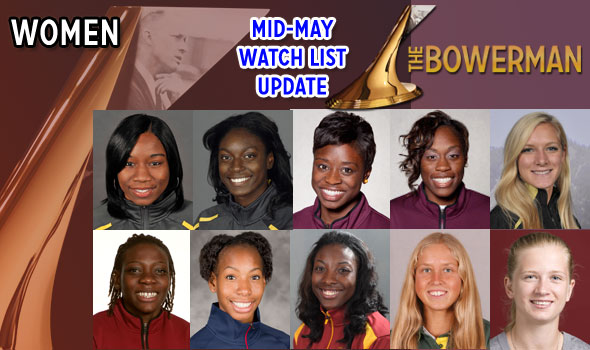 Women's Watch for The Bowerman Shifts After Outdoor Conference Championships