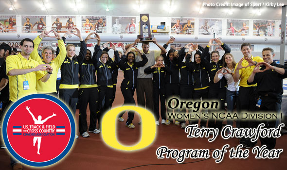 For the Ducks, A Third-Straight Terry Crawford Women's Program of the Year Nod