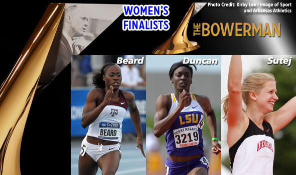 Women's Finalists for The Bowerman are Beard, Duncan, Sutej