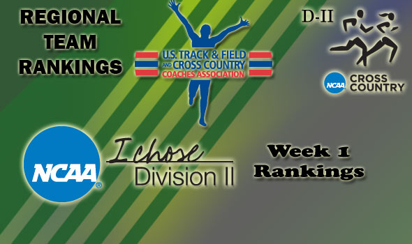 DII Regional Cross Country Rankings — Week 1