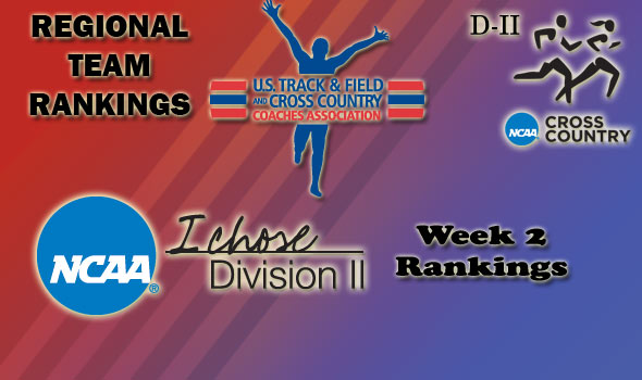 DII Regional Cross Country Rankings — Week 2