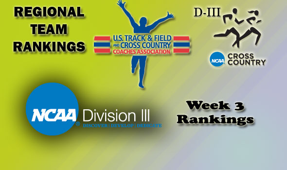 DIII Regional Cross Country Rankings — Week 3