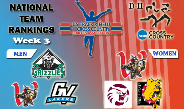 DII National Cross Country Rankings — Week 3