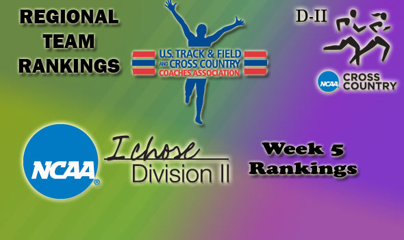 DII Regional Cross Country Rankings — Week 5