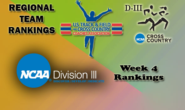 DIII Regional Cross Country Rankings — Week 4
