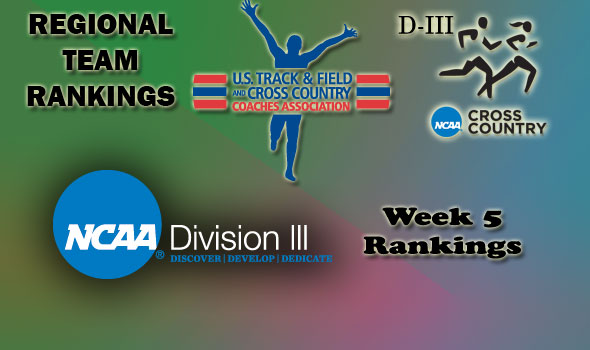 DIII Regional Cross Country Rankings — Week 5