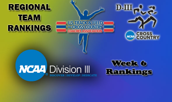 DIII Regional Cross Country Rankings — Week 6