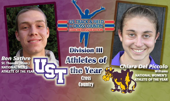 NCAA Champs Sathre, Del Piccolo Earn National Athlete of the Year Titles