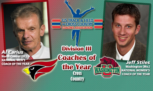 Carius, Stiles Named National Coaches of the Year in Division III