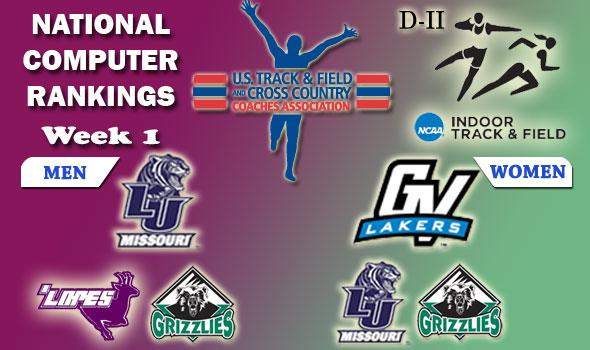 DII Indoor T&F National Team Rankings — 2012 Week #1